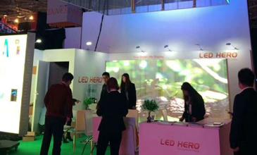 赫尔诺携LED透明屏P7.5-8和P3.91系列亮相2018ISE荷兰展会