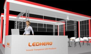 赫尔诺LED透明屏展与您在广州国际会展不见不散